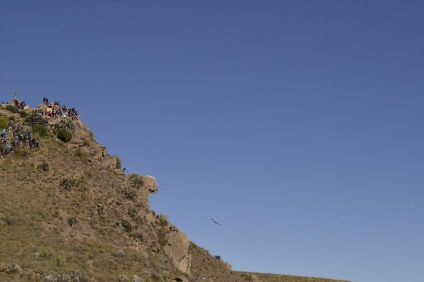 Punto panoramico Cruz del Condor all'interno del Canyon del Colca in Perù