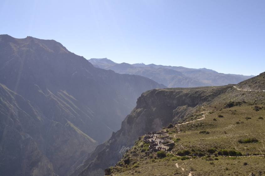Punto panoramico Cruz del Condor Canyon del Colca