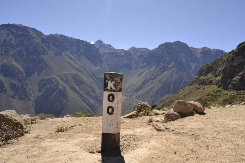 inizio del percorso nel Canyon del Colca
