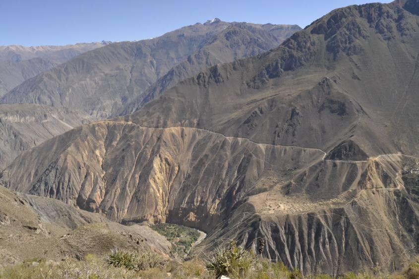 Vista durante il tour di due giorni all'interno del Canyon del Colca in Perù