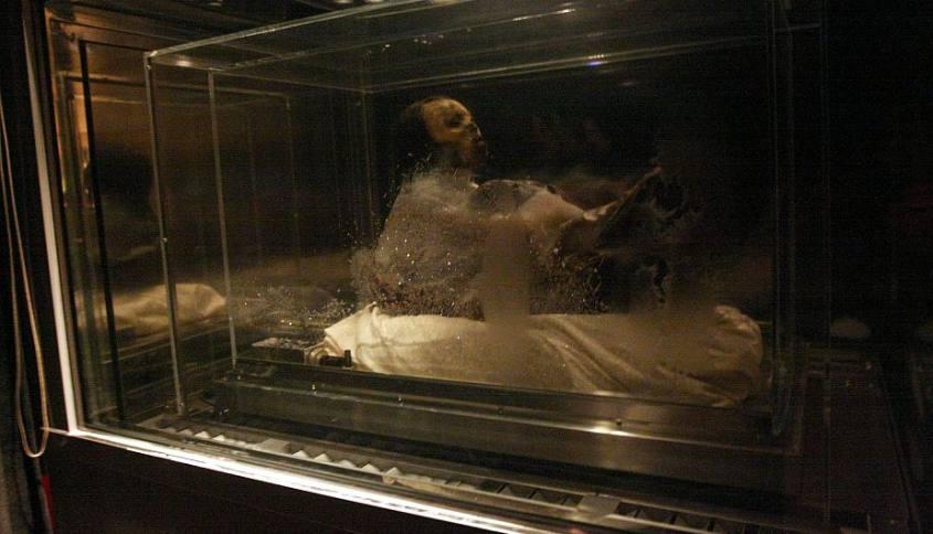 Mummia Juanita all'interno del Museo Andino di Arequipa