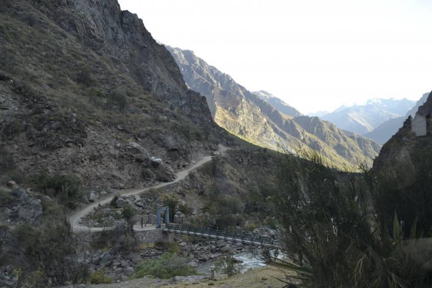 Tratto di strada dell'Inca Trail per Machi Picchu