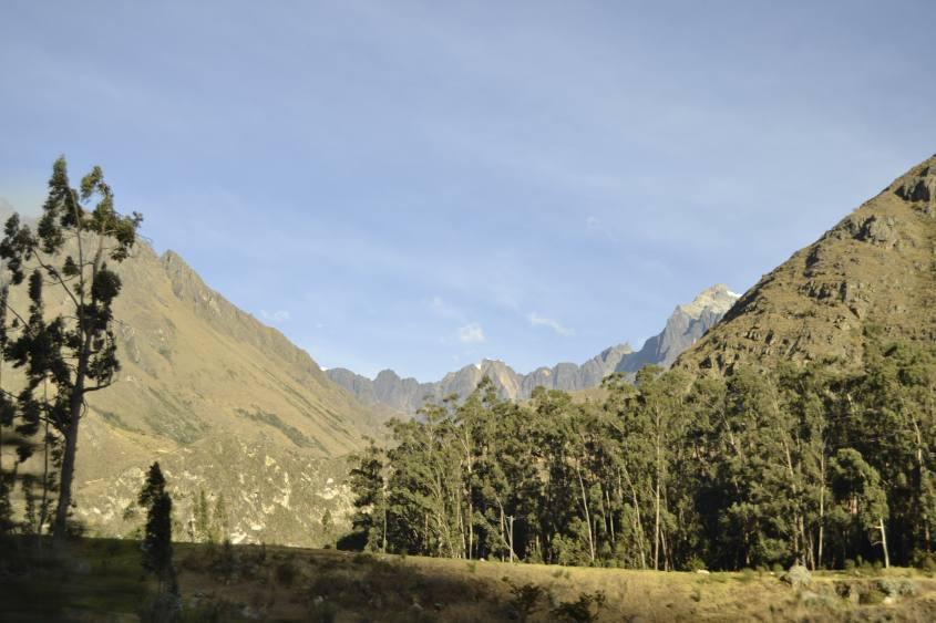 Panorama dal treno per Machu Picchu