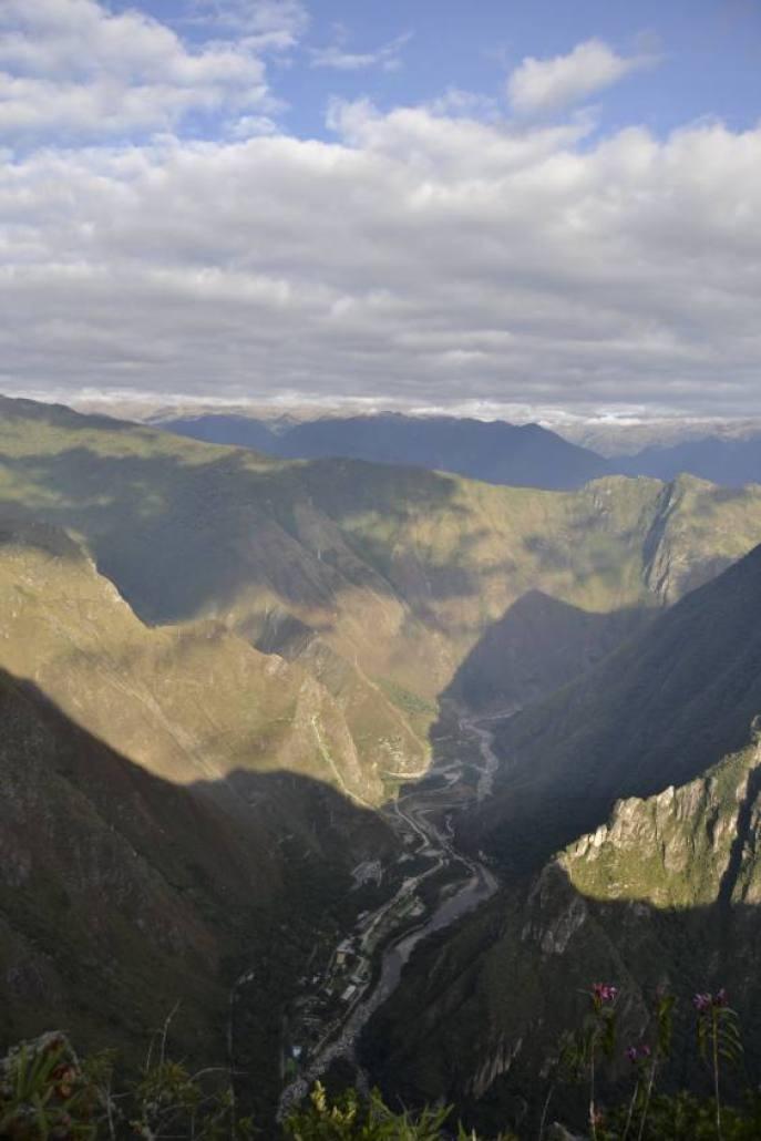 Vista dalla montagna Machu Picchu