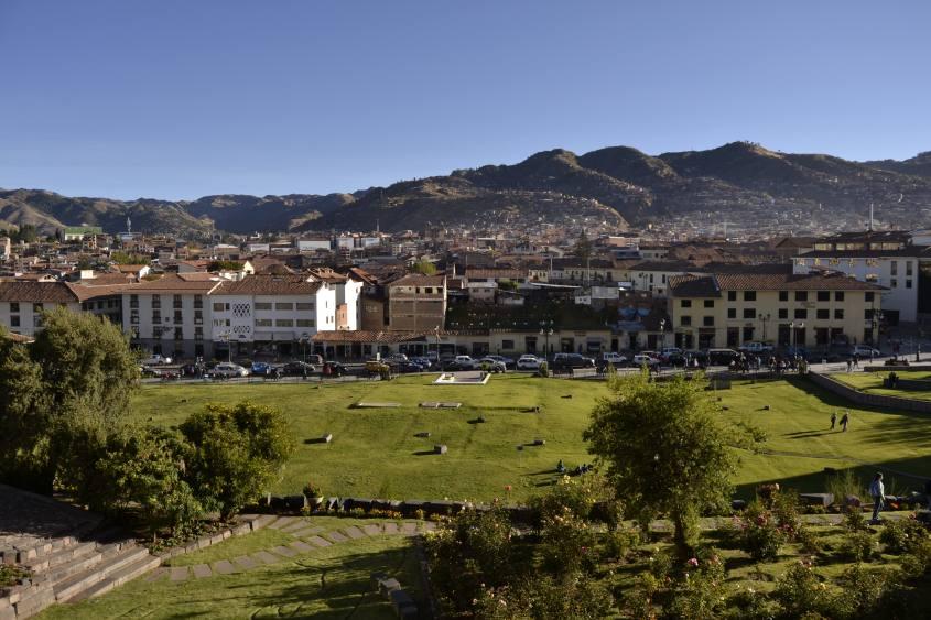 Vista su Cusco dal balcone del Museo Qorikancha