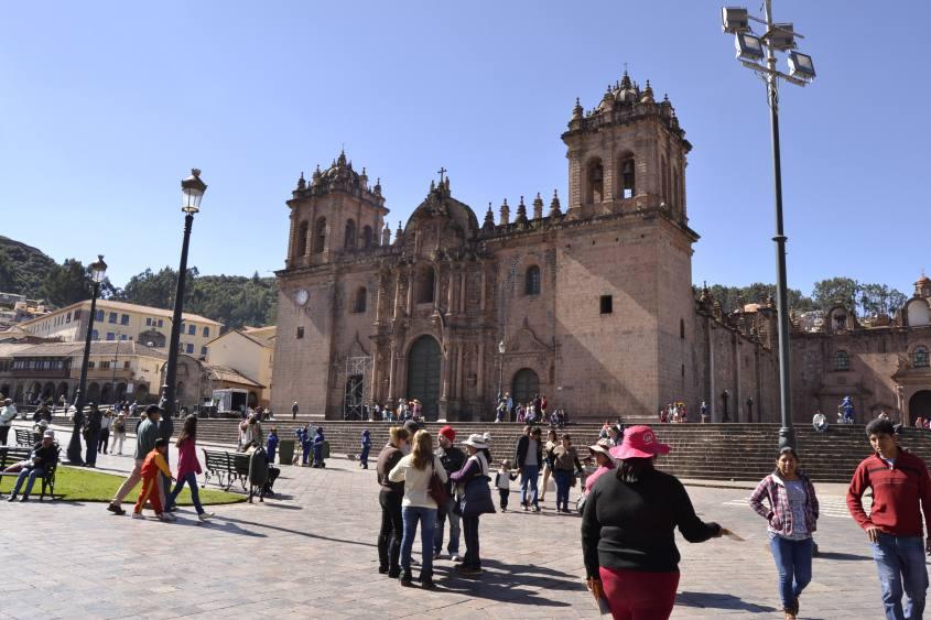 Cattedrale di Plaza de Armas a Cusco in Perù