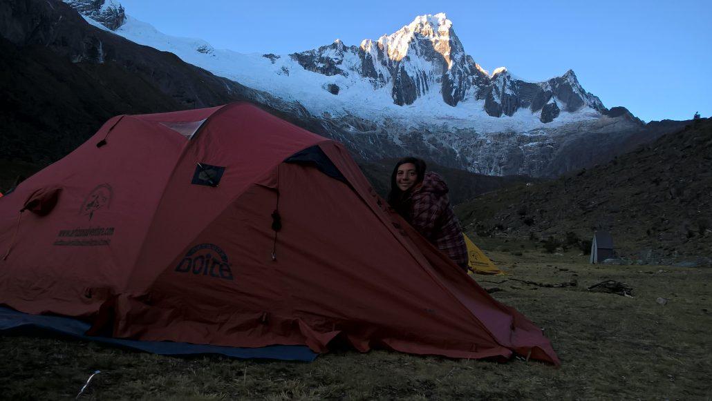 Secondo accampamento trekking Santa Cruz