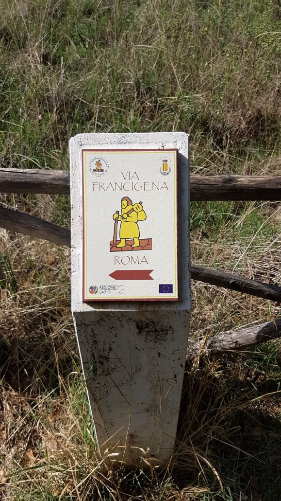 Cartello Roma Via Francigena