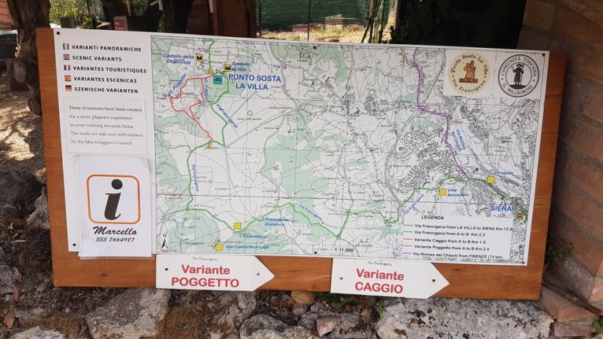 Varianti Via Francigena La Villa