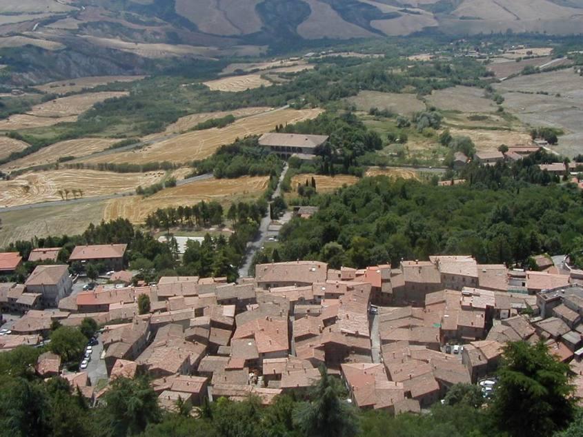 Vista Rocca Radicofani Via Francigena