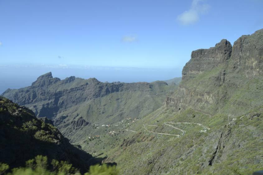 Strada per trekking Masca Tenerife