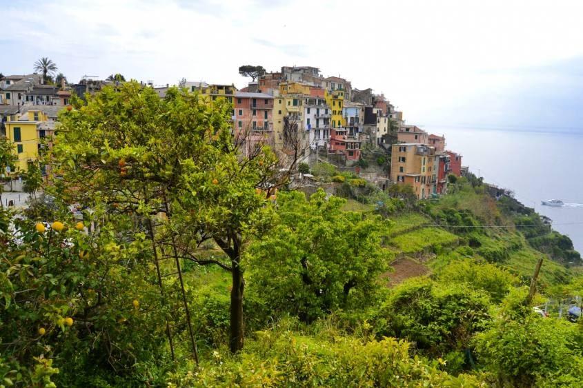 Vista sul Golfo dei poeti da Corniglia alle Cinque Terra