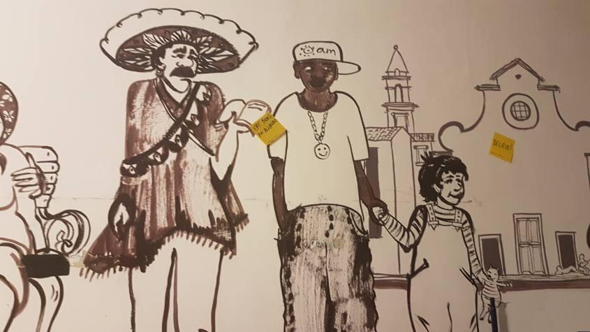 Murales multietnico dell'associazione Gli Anelli Mancanti di Firenze