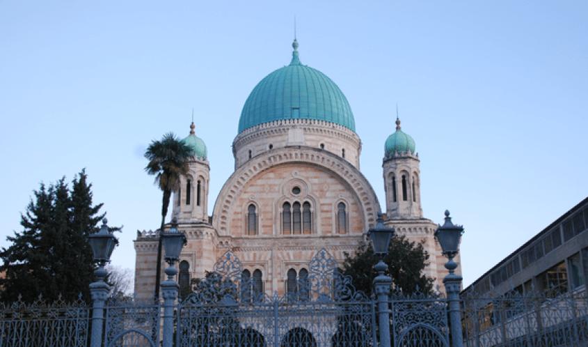 Sinagoga ebraica di Firenze vista da fuori
