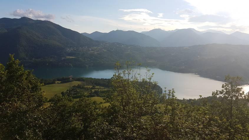 Panorama con vista sul lago di Suviana dalla Chiesa di Bargi