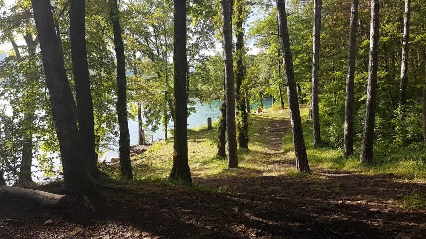 Percorso intorno al Lago di Suviana a Grizzana Morandi