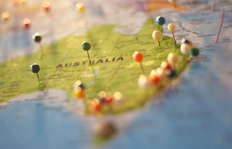 Cartina dell'Australia