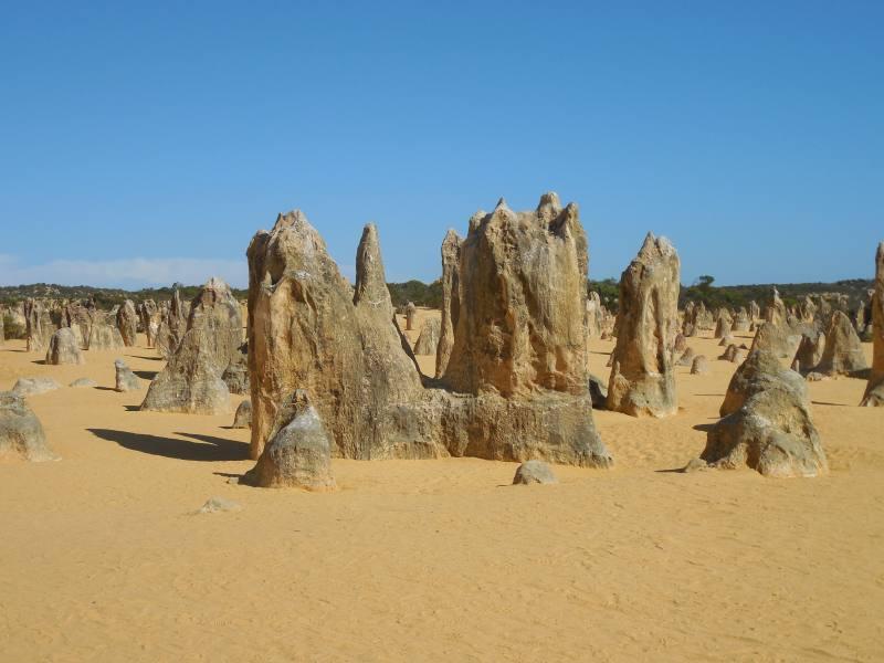 Percorso a piedi all'interno del Deserto dei Pinnacoli