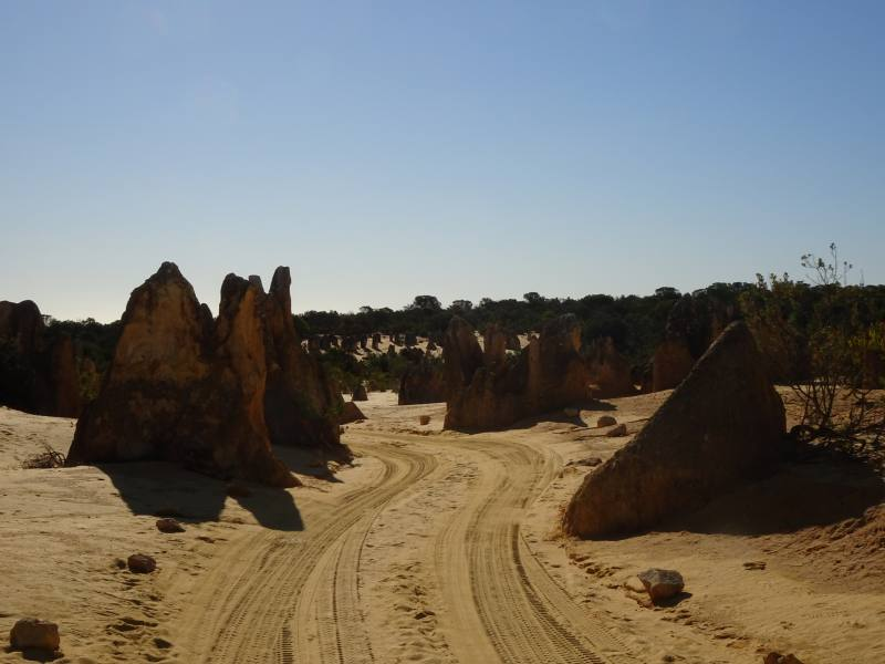 Percorso in auto nel Deserto dei Pinnacoli