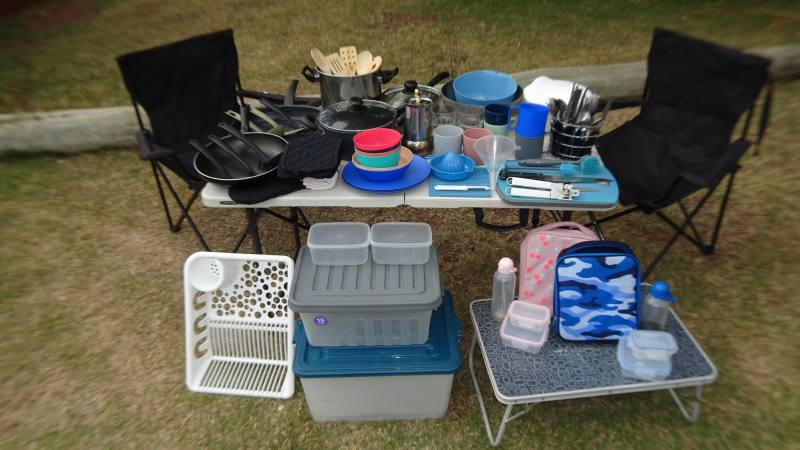 Accessori per cucinare e per mangiare durante un On the Road in Australia