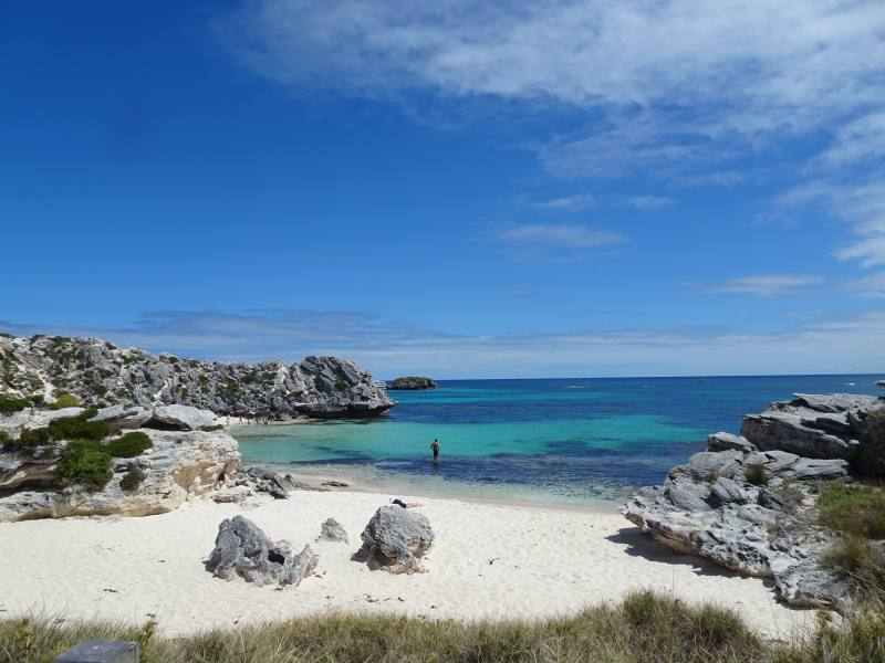 Spiaggia Little Amstrong Bay a Rottnest Island