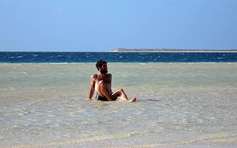 Spiaggia Paradise Point vicino la barriera corallina a Coral Bay in Western Australia