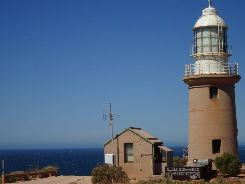 Faro Vlamingh Head Lighthouse dentro ill Cape Range National Park in Western Australia