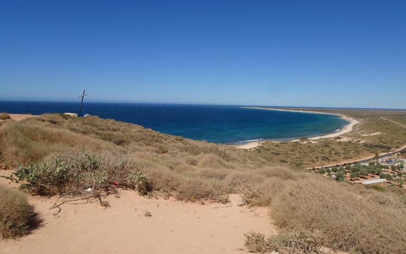 Vista del Parco Nazionale Cape Range dal faro Vlamingh Head Lightouse in Western Australia