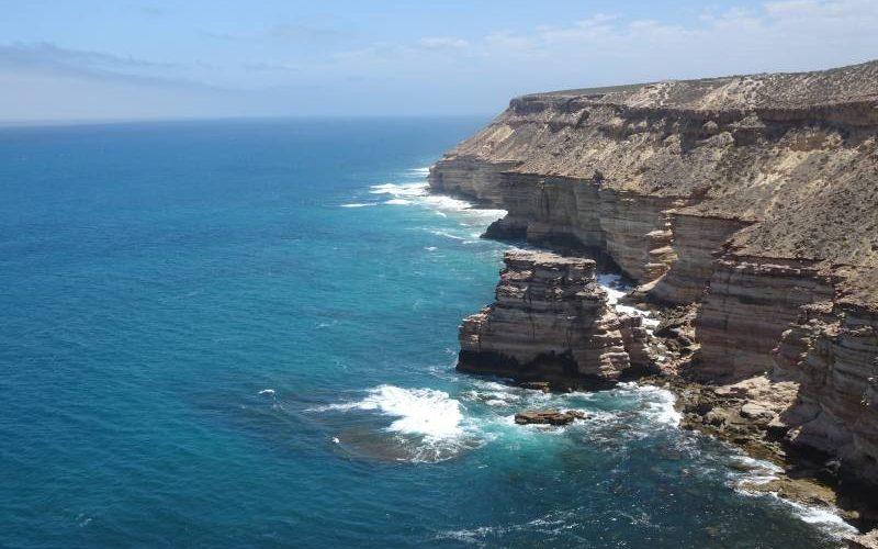 Punto panoramico per vedere Island Rock, l'isola di roccia nel tratto costiero di Kalbarri