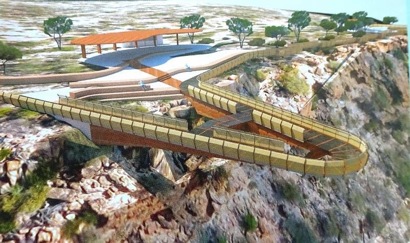 Progetto piattaforma sospesa nel vuoto Kalbarri Skywalk al Parco Nazionale di Kalbarri in Western Australia