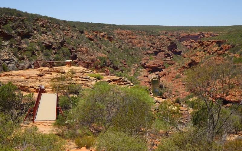 "Piattaforma punto panoramico ""Z-Bend Lookout"" nel Parco Nazionale Kalbarri in Western Australia"