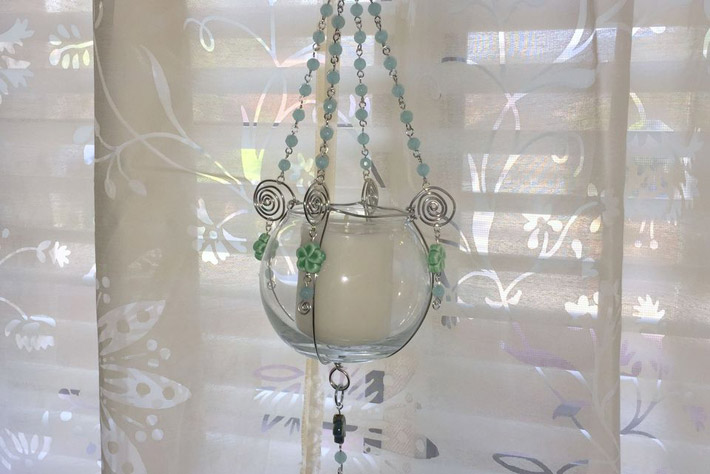 DIY Hanging Bead For Plant Or Candle Holder