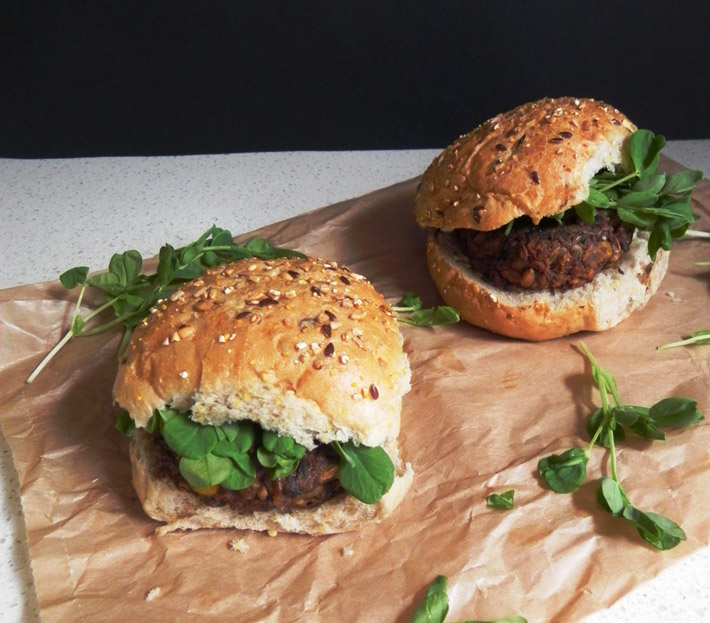 Mushroom And Olive Veggie Burgers – Recipe