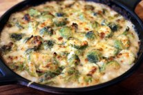 Cheesy Brussels Sprouts Gratin - Recipe