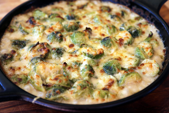 Cheesy Brussels Sprouts Gratin – Recipe