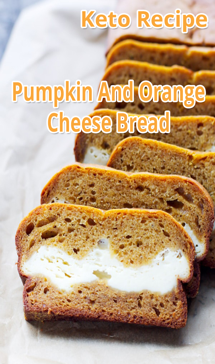 Pumpkin And Orange Cheese Bread - Keto Recipe