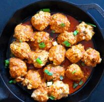 Instant Pot Buffalo Chicken Meatballs – Keto, Paleo, Whole30