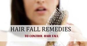 hair fall control remedies