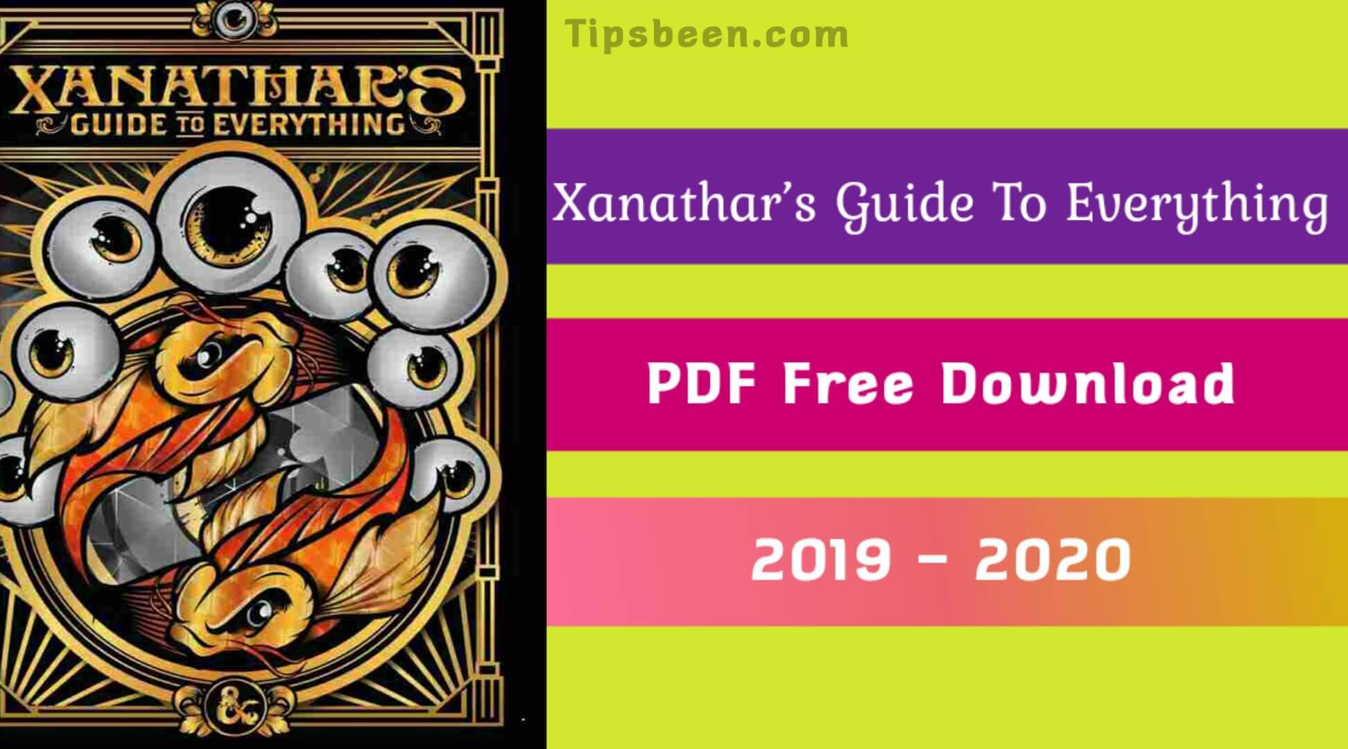 Xanathar's Guide To Everything PDF Free Download, DnD, D&D