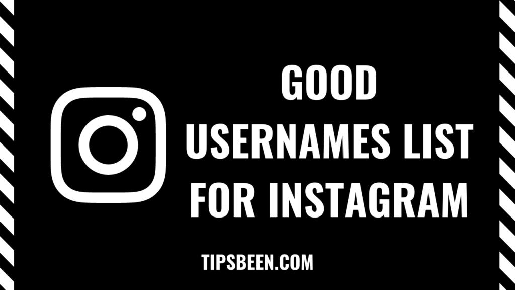 Instagram usernames