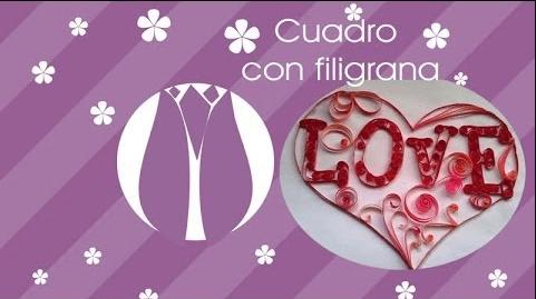 Cuadro con filigrana – Love –