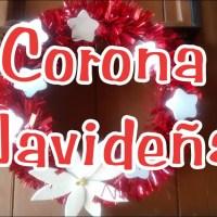 Corona navideña para la puerta