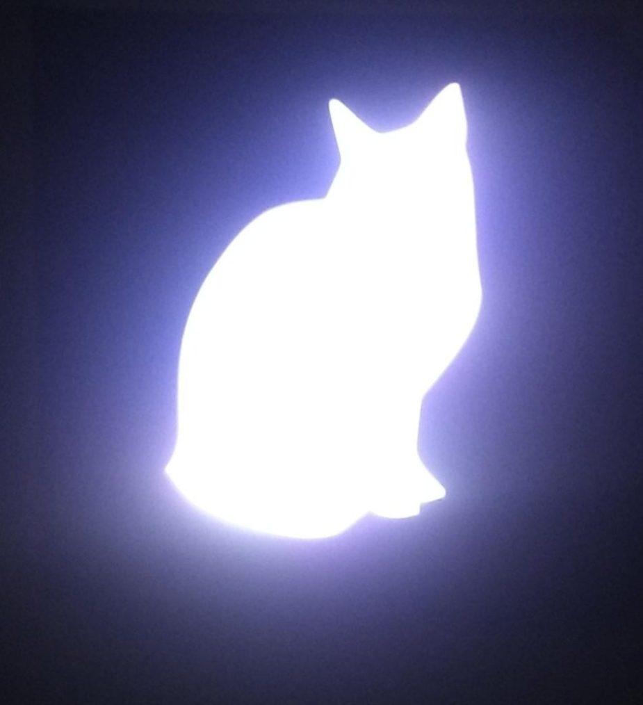 luz de noche con forma de gato