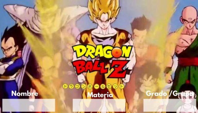 Etiquetas para imprimir de Dragon Ball z