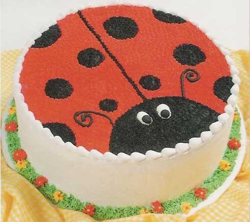 pastel de lady bug