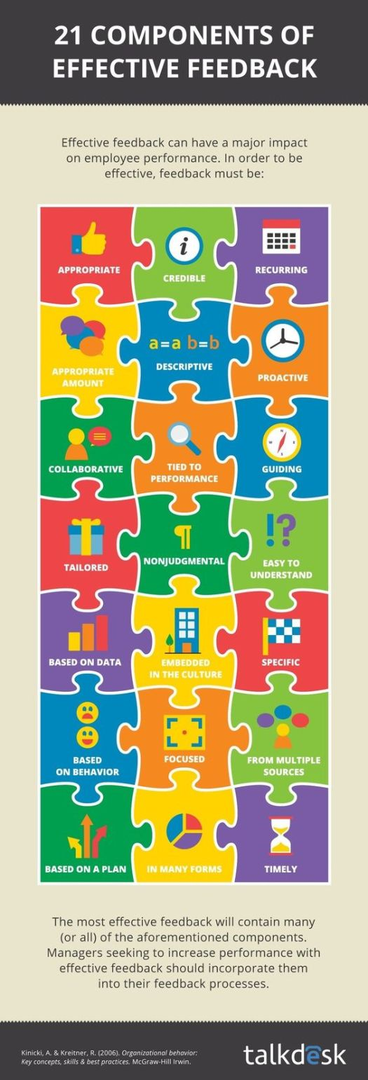 inforgraphic - 21 components of effective feedback
