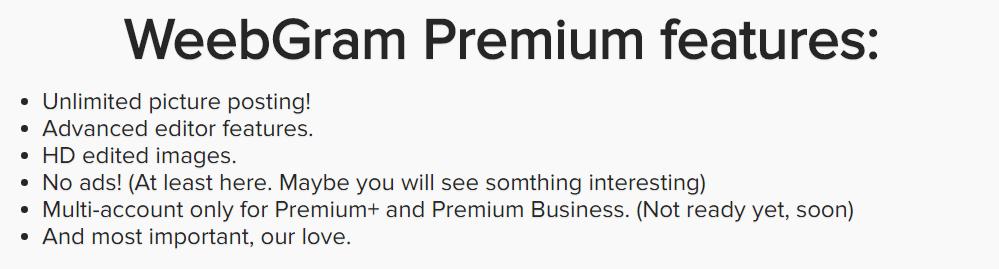 WeebGram Premium Features