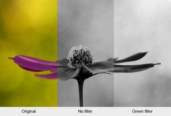Hitam Putih dengan Filter Hijau