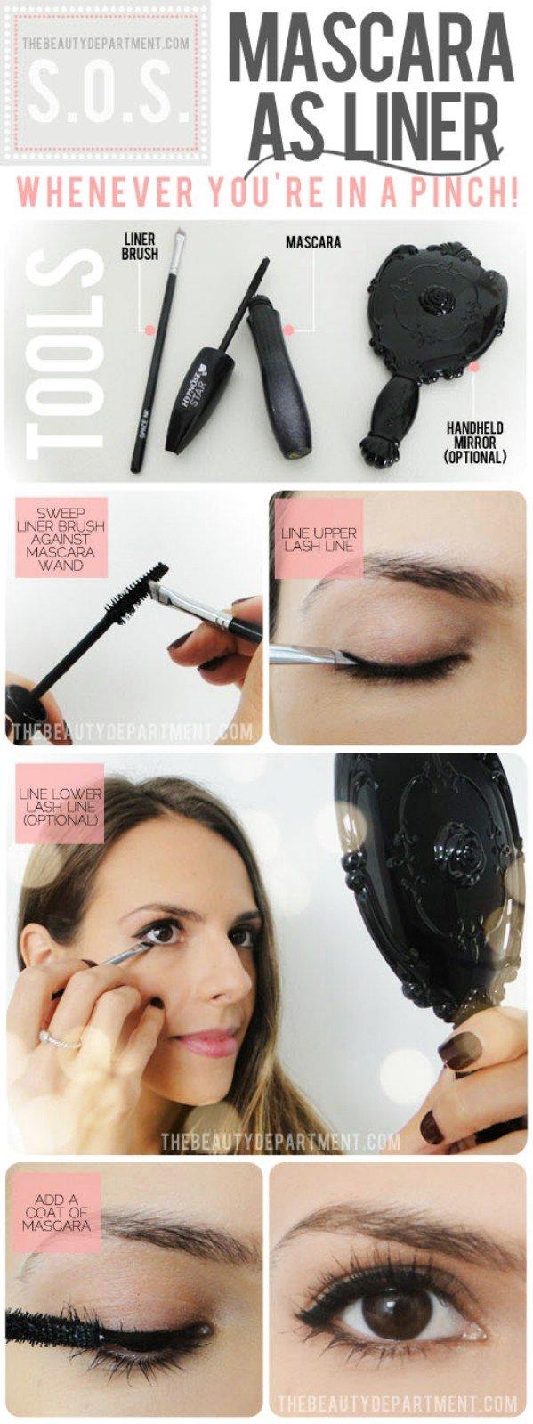 mascara as eye liner
