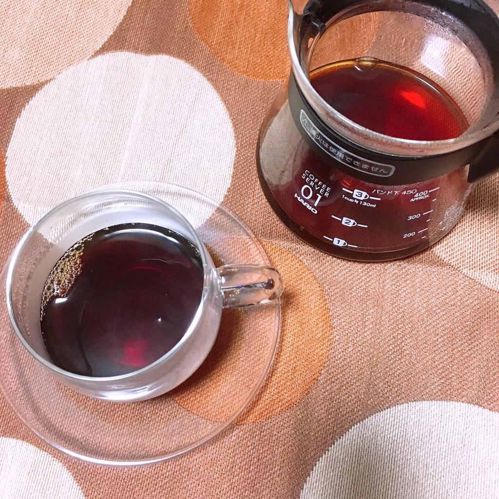 マンデリン 抽出したコーヒー